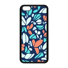 Blue Tossed Flower Floral Apple Iphone 5c Seamless Case (black) by Mariart