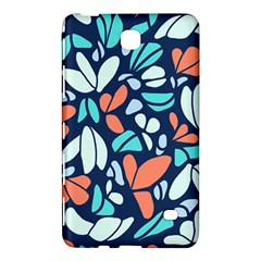 Blue Tossed Flower Floral Samsung Galaxy Tab 4 (7 ) Hardshell Case  by Mariart
