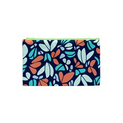 Blue Tossed Flower Floral Cosmetic Bag (xs) by Mariart