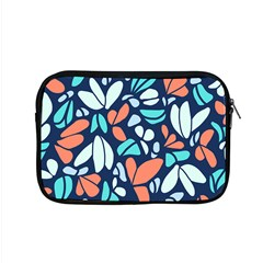 Blue Tossed Flower Floral Apple Macbook Pro 15  Zipper Case
