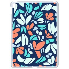 Blue Tossed Flower Floral Apple Ipad Pro 9 7   White Seamless Case by Mariart
