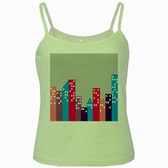 Building Polka City Rainbow Green Spaghetti Tank by Mariart