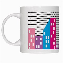 Building Polka City Rainbow White Mugs by Mariart