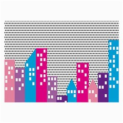 Building Polka City Rainbow Large Glasses Cloth (2 Side) by Mariart