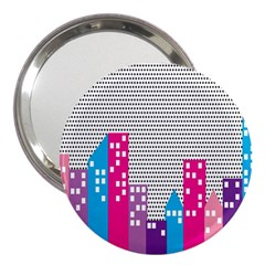 Building Polka City Rainbow 3  Handbag Mirrors by Mariart
