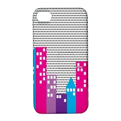Building Polka City Rainbow Apple Iphone 4/4s Hardshell Case With Stand by Mariart