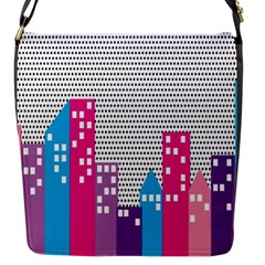 Building Polka City Rainbow Flap Messenger Bag (s) by Mariart