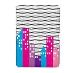 Building Polka City Rainbow Samsung Galaxy Tab 2 (10 1 ) P5100 Hardshell Case  by Mariart