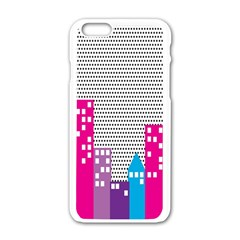 Building Polka City Rainbow Apple Iphone 6/6s White Enamel Case by Mariart