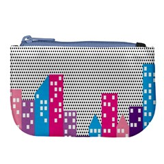 Building Polka City Rainbow Large Coin Purse by Mariart