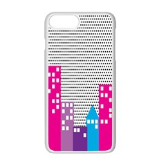 Building Polka City Rainbow Apple Iphone 7 Plus White Seamless Case by Mariart