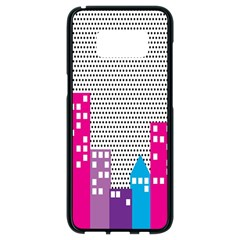 Building Polka City Rainbow Samsung Galaxy S8 Black Seamless Case by Mariart