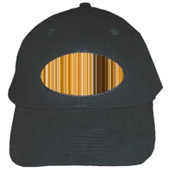 Brown Verticals Lines Stripes Colorful Black Cap by Mariart