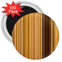 Brown Verticals Lines Stripes Colorful 3  Magnets (100 Pack) by Mariart