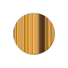 Brown Verticals Lines Stripes Colorful Magnet 3  (round) by Mariart