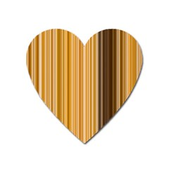 Brown Verticals Lines Stripes Colorful Heart Magnet by Mariart