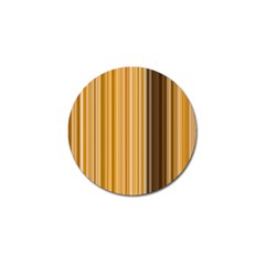 Brown Verticals Lines Stripes Colorful Golf Ball Marker by Mariart