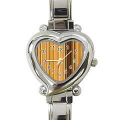 Brown Verticals Lines Stripes Colorful Heart Italian Charm Watch
