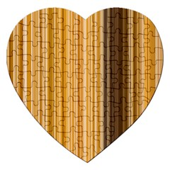 Brown Verticals Lines Stripes Colorful Jigsaw Puzzle (heart)