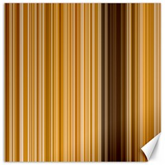 Brown Verticals Lines Stripes Colorful Canvas 12  X 12   by Mariart