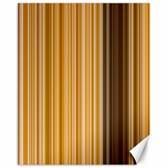 Brown Verticals Lines Stripes Colorful Canvas 16  X 20