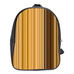 Brown Verticals Lines Stripes Colorful School Bag (large)