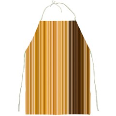 Brown Verticals Lines Stripes Colorful Full Print Aprons by Mariart