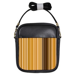 Brown Verticals Lines Stripes Colorful Girls Sling Bags