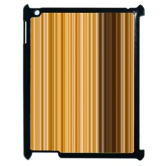 Brown Verticals Lines Stripes Colorful Apple Ipad 2 Case (black) by Mariart