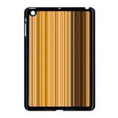 Brown Verticals Lines Stripes Colorful Apple Ipad Mini Case (black) by Mariart