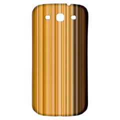 Brown Verticals Lines Stripes Colorful Samsung Galaxy S3 S Iii Classic Hardshell Back Case by Mariart