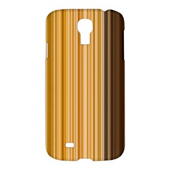 Brown Verticals Lines Stripes Colorful Samsung Galaxy S4 I9500/i9505 Hardshell Case by Mariart