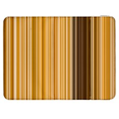 Brown Verticals Lines Stripes Colorful Samsung Galaxy Tab 7  P1000 Flip Case by Mariart