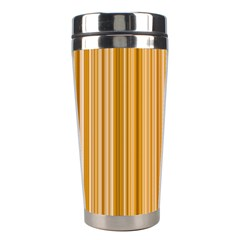 Brown Verticals Lines Stripes Colorful Stainless Steel Travel Tumblers by Mariart