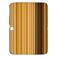 Brown Verticals Lines Stripes Colorful Samsung Galaxy Tab 3 (10 1 ) P5200 Hardshell Case  by Mariart