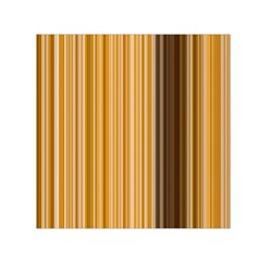 Brown Verticals Lines Stripes Colorful Small Satin Scarf (square) by Mariart