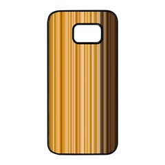 Brown Verticals Lines Stripes Colorful Samsung Galaxy S7 Edge Black Seamless Case by Mariart