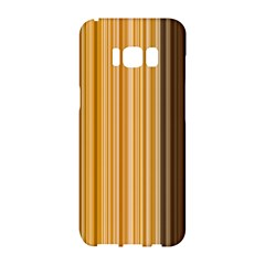 Brown Verticals Lines Stripes Colorful Samsung Galaxy S8 Hardshell Case  by Mariart