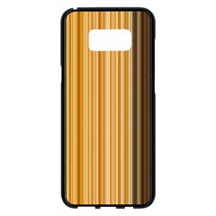Brown Verticals Lines Stripes Colorful Samsung Galaxy S8 Plus Black Seamless Case