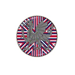 Alternatively Mega British America Dragon Illustration Hat Clip Ball Marker (10 Pack) by Mariart