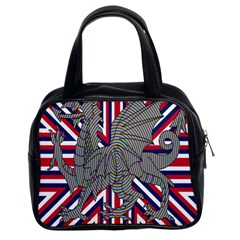 Alternatively Mega British America Dragon Illustration Classic Handbags (2 Sides) by Mariart
