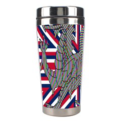 Alternatively Mega British America Dragon Illustration Stainless Steel Travel Tumblers by Mariart