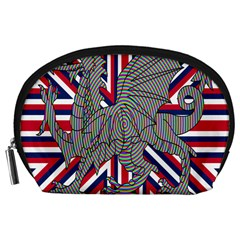 Alternatively Mega British America Dragon Illustration Accessory Pouches (large)  by Mariart