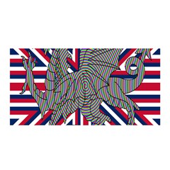 Alternatively Mega British America Dragon Illustration Satin Wrap by Mariart