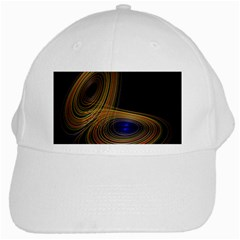 Wondrous Trajectorie Illustrated Line Light Black White Cap by Mariart