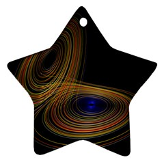 Wondrous Trajectorie Illustrated Line Light Black Star Ornament (two Sides) by Mariart