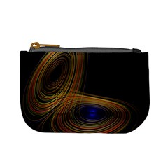 Wondrous Trajectorie Illustrated Line Light Black Mini Coin Purses by Mariart