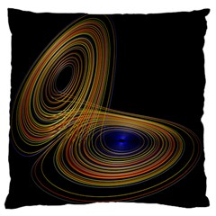 Wondrous Trajectorie Illustrated Line Light Black Large Cushion Case (two Sides) by Mariart