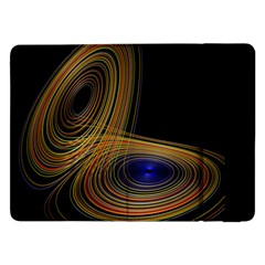 Wondrous Trajectorie Illustrated Line Light Black Samsung Galaxy Tab Pro 12 2  Flip Case by Mariart