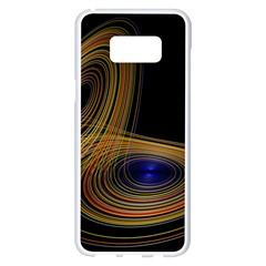 Wondrous Trajectorie Illustrated Line Light Black Samsung Galaxy S8 Plus White Seamless Case